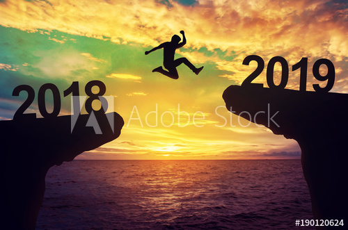 Man Leaping into 2019